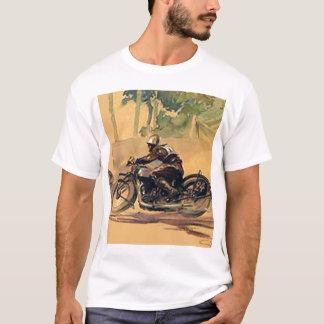 Camiseta del vintage de la moto