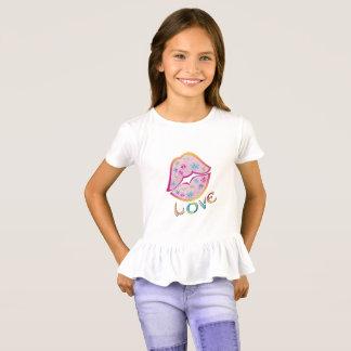 Camiseta del volante de los chicas del amor del
