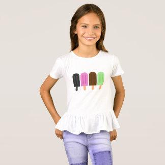 Camiseta del volante de los chicas del Popsicle