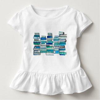 Camiseta del volante de los libros azules