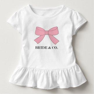 Camiseta del volante del fiesta del bebé del rosa