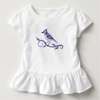 Camiseta del volante del niño del arrendajo azul