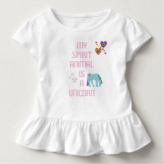 Camiseta del volante del unicornio