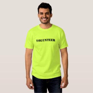 Camiseta del voluntario del acontecimiento de los