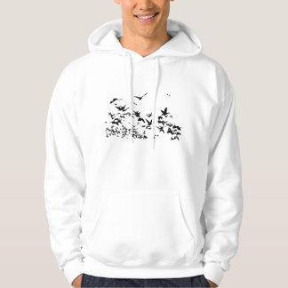 Camiseta del vuelo de la fauna de los pájaros de