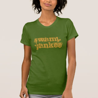 camiseta del yanqui del pantano para las mujeres