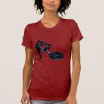 Camiseta del zapato del tacón alto del vintage