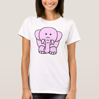 Camiseta Delantera-Detrás linda del elefante