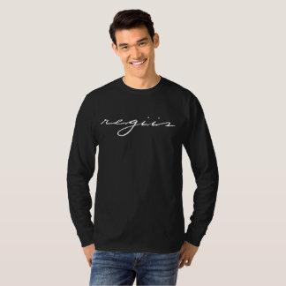 "Camiseta Deletreo de manga larga negro ""regiis """