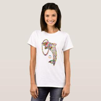 Camiseta Delfín coloreado 2 3D