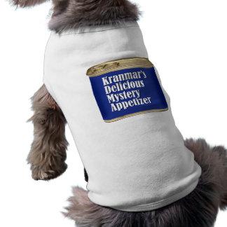 Camiseta deliciosa del perro del aperitivo del mis camiseta sin mangas para perro
