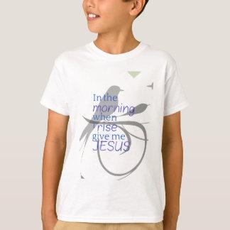 Camiseta Déme la alabanza de Jesús y el diseño de la
