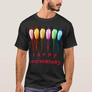 Camiseta Demostración FELIZ del tulipán del pétalo color de