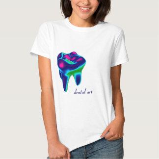 Camiseta dental del dentista del arte del diente