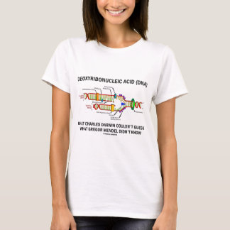 Camiseta Deoxyribonucelic (DNA) Mendel ácido Darwin
