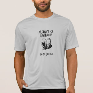 Camiseta Deporte unánime T de los alcohólicos