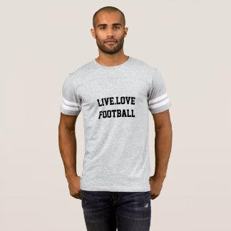 Camiseta deportiva del gris del fútbol de los