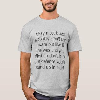 Camiseta derecho para fastidiar la cárcel