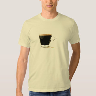 Camiseta derramada del café