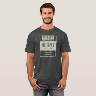 Camiseta Desaparecidos blancos del privilegio
