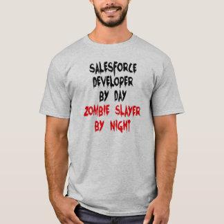 Camiseta Desarrollador de Salesforce del asesino del zombi
