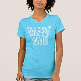 Camiseta Descarado en sesenta blancos azules de 60