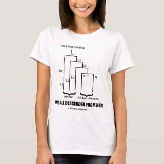 Camiseta Descendimos todo de ella (Eve mitocondrial)