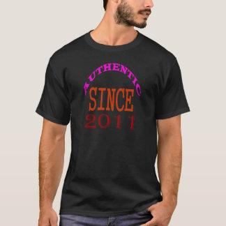 Camiseta Desde 2011 diseños auténticos del cumpleaños
