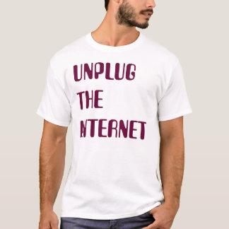 Camiseta Desenchufe el Internet