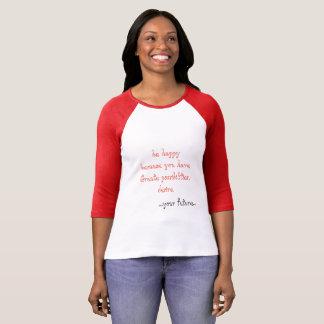 Camiseta Deseos del feliz cumpleaños, ideas del regalo de