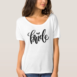 Camiseta desgarbada de la novia