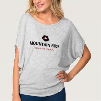 Camiseta desgarbada defensiva del rosa de montaña