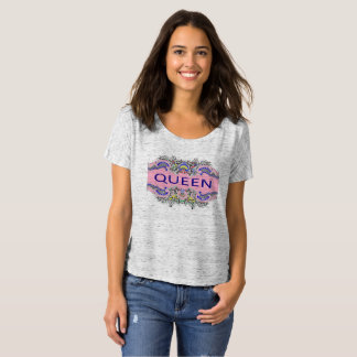 Camiseta desgarbada del novio de la REINA
