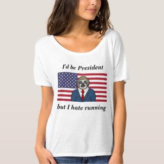 Camiseta desgarbada para mujer del lema
