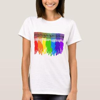 Camiseta Desgaste de fusión del arte del creyón