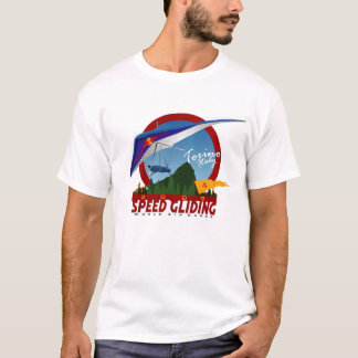 Camiseta Deslizamiento de la velocidad de la caída