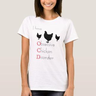 Camiseta Desorden obsesivo del pollo de O.C.D
