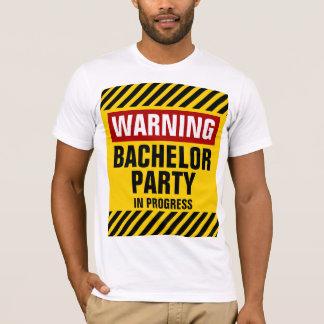 Camiseta Despedida de soltero amonestadora en curso