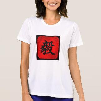 Camiseta Determinación en caligrafía del chino tradicional