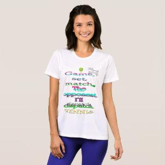 Camiseta determinada del competidor del tenis del