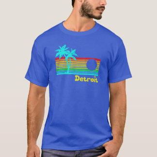 Camiseta Detroit tropical (diseño divertido del vintage)