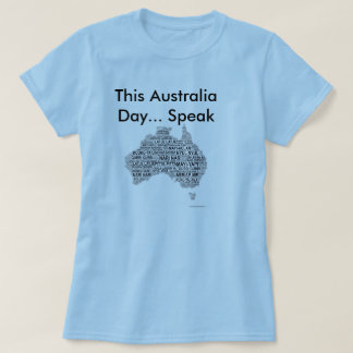 Camiseta Día de Australia - idiomas indígenas