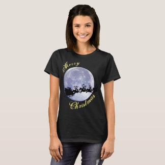 Camiseta Día de fiesta de la víspera de Navidad de la luna
