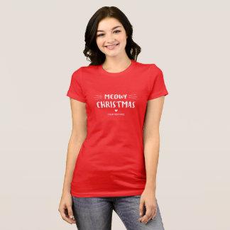 Camiseta Día de fiesta lindo del navidad el   de Meowy del