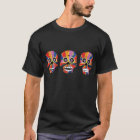 Camiseta Día de los cráneos esqueléticos muertos