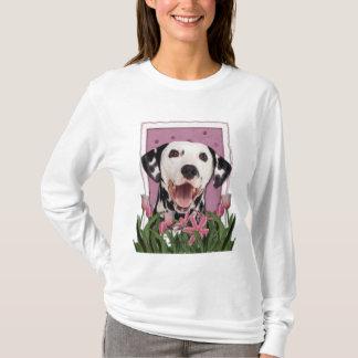 Camiseta Día de madres - tulipanes rosados - Dalmatian