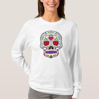 Camiseta Día del azúcar muerto Skull Dia de los Muertos