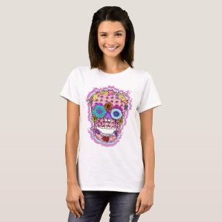 Camiseta Día del cráneo del azúcar de los muertos con las