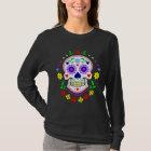 Camiseta Día mexicano del cráneo decorativo muerto del