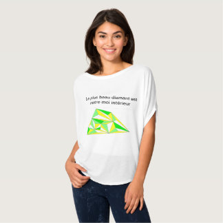 Camiseta diamante interior sinfonía amarilla verde